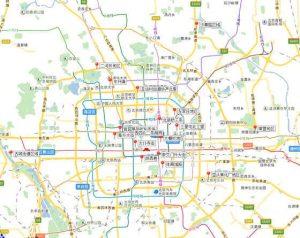 北京拆建复绿图